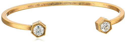 nicole-miller-artelier-hex-open-ends-burnished-gold-clear-cuff-bracelet