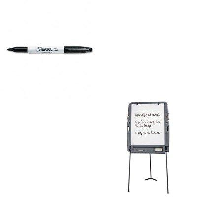Dry Erase Permanent Marker (KITICE30227SAN30001 - Value Kit - Iceberg Portable Flipchart Easel w/Dry Erase Surface (ICE30227) and Sharpie Permanent Marker (SAN30001))