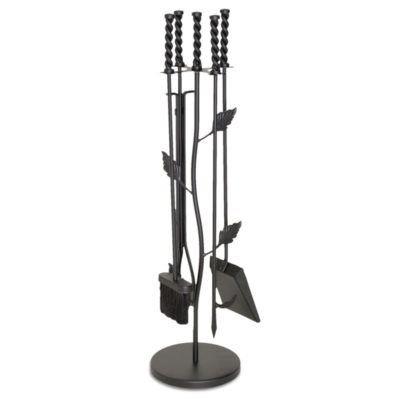 5 Piece Garden Leaf Fireplace Tool Set - Napa Forge Leaf