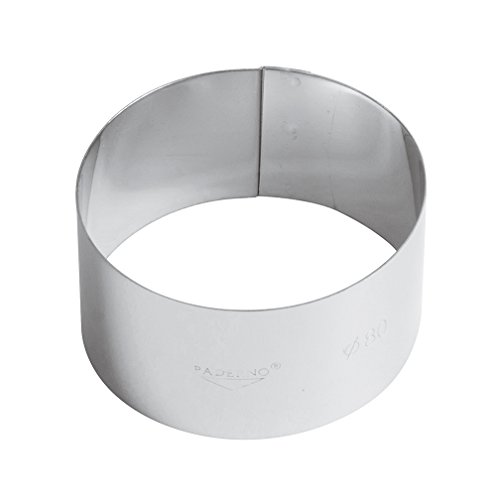 Paderno World Cuisine Stainless Steel Mousse Ring, 3-1/8IN x 1-3/4IN