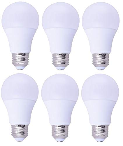 6 Pack Bioluz LED 40 Watt LED Light Bulb (uses 6 watts) A19 LED Light Bulbs See Series Non Dimmable Warm White (2700K) Light Bulb 6-Pack ()