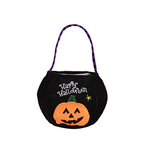 Halloween Trick or Treat Bag,YOYORI Halloween Gift Candies Bags Amusing Fluffy Bags Tote Bags for Kids Festival (C)