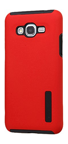 Asmyna Cell Phone Case for Samsung G530 (Galaxy Grand Prime) - Retail Packaging - Black/Red