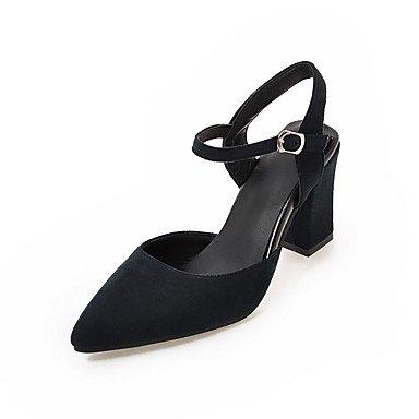 LvYuan Mujer-Tacón Robusto-Otro-Sandalias-Oficina y Trabajo Vestido Informal-Vellón-Negro Rojo Gris gray