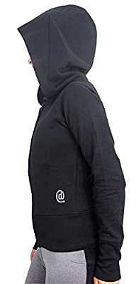 Dincwear Ladies Full Zip Hooded Sweatshirt with Oversized Hood