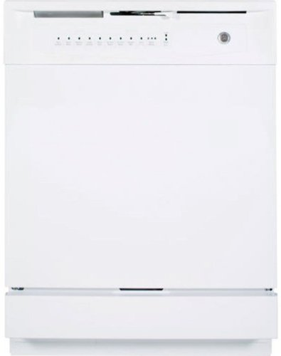 GE GIDDS-632123 Built-In 24'' Dishwasher With Front Controls, White, 5 Cycles/5 Options