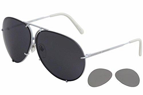 6a87c1c5e3b Porsche Design P 8478 P8478 P White Pilot Sunglasses 66mm W Extra Lenses -  Buy Online in Oman.