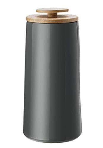 Stelton Emma Coffee Canister Storage Jar, Dark Grey by Holmback & Nordentoft