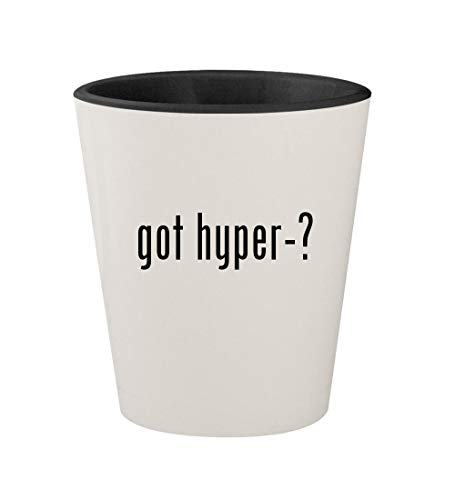 got hyper-? - Ceramic White Outer & Black Inner 1.5oz Shot Glass