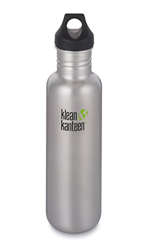 Klean Kanteen Classic Stainless Steel Single Wall Water Bottle with Leak Proof Loop Cap - 27oz - Brushed Stainless