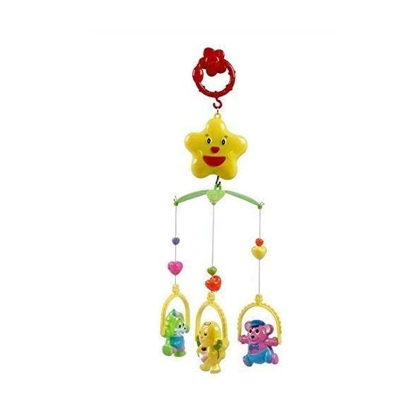 DD RETAILS 5 Pcs Lovely Colourful Musical Hanging Rattle Toys with Hanging Cartoons for Babies (Multi Color)