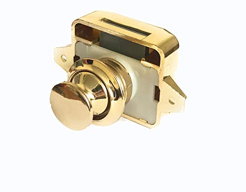 AMT Gold Key Less Push Button Cabinet Latch for Rv/Motor Home Cupboard Caravan Lock for Cupboard Push Latch Lock (1) ()