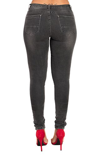 Womens Detalle Dorete Jeans Skinny De Cremallera Black Ikrush dwCqw