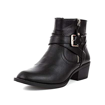 LILLEY Womens Black Cross Strap Ankle Boot