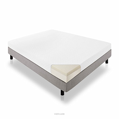 Lucid® 6 Inch Memory Foam Mattress - Dual-Layered - CertiPUR-US Certified - Firm Feel - King Size (Tempur Discount)