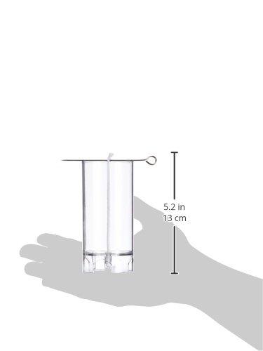 RAYHER - 3117100 - Velas Colada Form, Maceta, Plana, SB-diseño. 1 pcs, 10 cm de Alto, 5 cm de diámetro: Amazon.es: Hogar