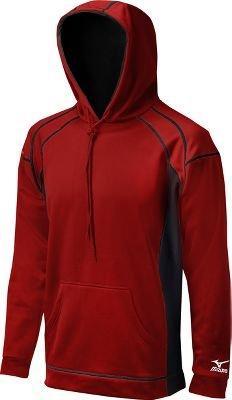 Red Pullover Mizuno (Mizuno G2 Technical Fleece Top, Red/Black, X-Small)