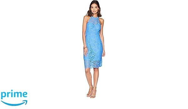 Lilly Pulitzer Womens Kenna Halter Dress Bennet Blue