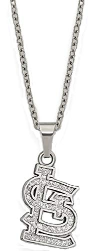 (Q Gold MLB St. Louis Cardinals Stainless Steel St. Louis Cardinals Pendant on Chain with 2 in ext Necklace Size One Size)