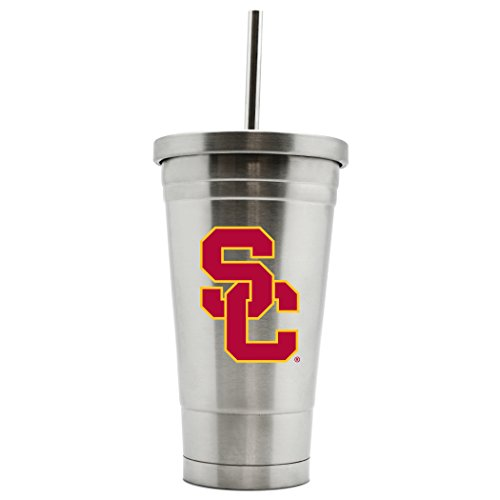 - Duck House NCAA Usc Trojans 17oz Double Wall Stainless Steel Thermo Tumbler with Straw