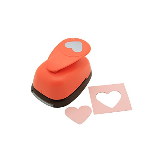 Bira 1.5 inch Heart Lever Action Craft Punch, Valentine's Day Punch, for Paper Crafting Scrapbooking Cards Arts