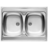 Pyramis 100117801fregadero de cocina de acero inoxidable (lino)