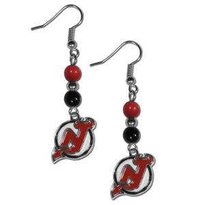 NHL New Jersey Devils Bead Dangle Earrings ()