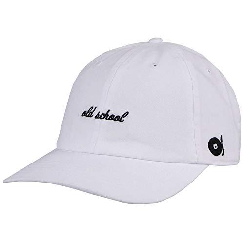 Wembley Old School Vinyl Turntable Strapback Slouch Dad Cap Hat White