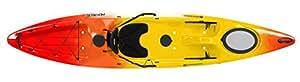 Perception R15 Pescadors 120 Kayak, Red/Yellow