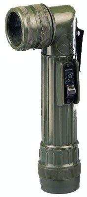 Olive Drab Military GI Style C-Cell Anglehead Flashlight