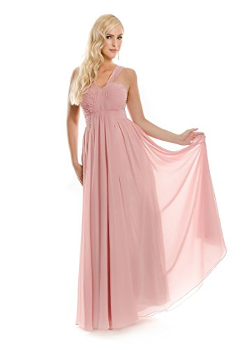 VIP Dress Abendkleid lang / Galakleid Chiffon / Ballkleid in Rosa, Größe 38
