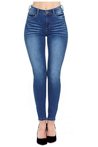 Women's High Waist Premium Denim Super Stretch Skinny Jeans with Spandex