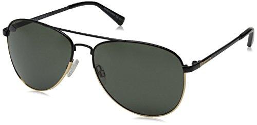 VonZipper Farva Aviator Sunglasses, Black/Gold/Grey, 59 - Sunglasses Revolve