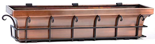 Copper Flower Boxes - H Potter Copper Window Flower Garden Box Planter (30 Inch Length)