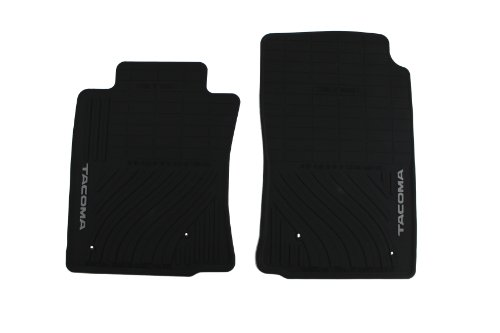 Genuine Toyota Accessories PT908-35000-02 Front All-Weather Floor Mat (Black), Set of 2 02 All Weather Floor Mats