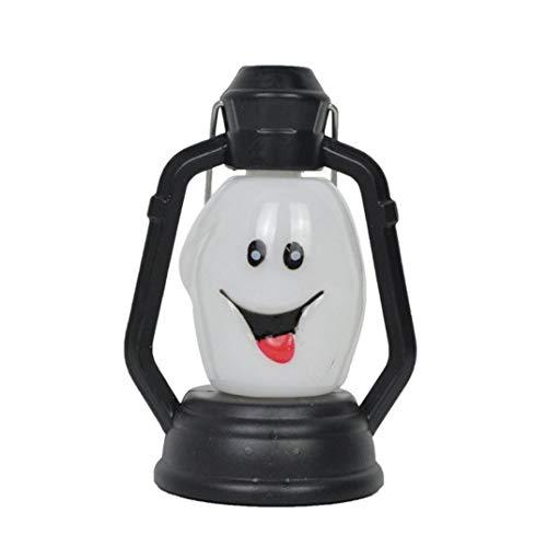 Yezike Hot Halloween Night Light Portable Funny Light Lantern LED Lamp Kerosene Lamp Shape Best Halloween Holiday Kids Gift (A) -