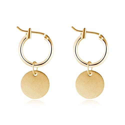 Geometry Round Pendant Drop Earring Metal Hanging Earrings Simple Jewelry ()