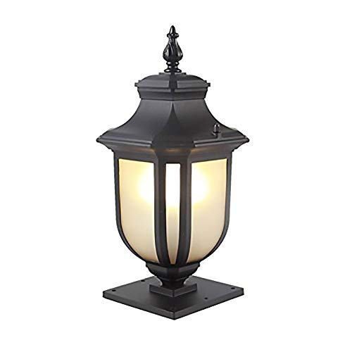 CGH-lamp Nordic Outdoor Aluminum Pillar Lamp Column Light Post Light Table Lamp Glass Street Light Fixture Used for Outside The Courtyard Lawn Villa Garden