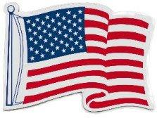 American Car Magnet Flag (American Flag Waving Magnet)