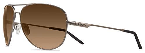 Revo Re 3087 Windspeed Polarized Sport Sunglasses Aviator, Bronze, 61 mm (Revo Aviator)