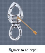 S.S. Quick Release Large Bail Swivel Eye Snap Shackle - Size: X-Small or 3 - Quick Release Wichard