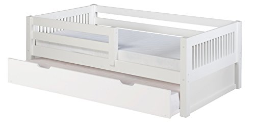 Camaflexi Mission Style Solid Wood Daybed with Trundle and F