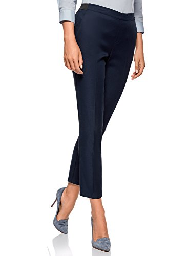 7900n oodji Blu Donna Cintura 8 7 con Elastica Pantaloni Ultra OPwqOz