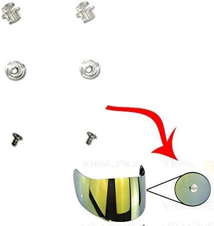 J2Pro VRacing Coppia Perni Pinlock Pins Visiera Casco GREX G4.1 G6.1 G9.1 RF2.