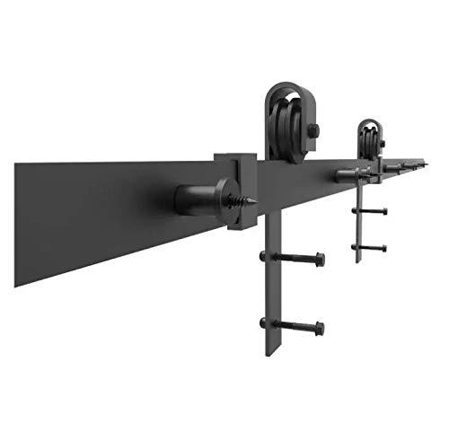 Wildfox Toscana Poign/ée de porte coulissante en acier Noir mat 200 cm