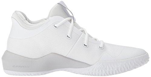 Adidas Performance Mens Si Alza 2 Scarpa Da Basket Bianca / Leggera Grigio Solido Heather / Core Nera