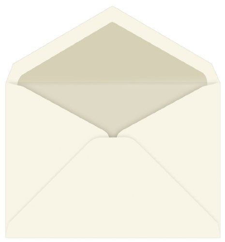 (Pearl Lined Inner Ungummed Envelopes, Tiffany Ecru, 25 Pack )