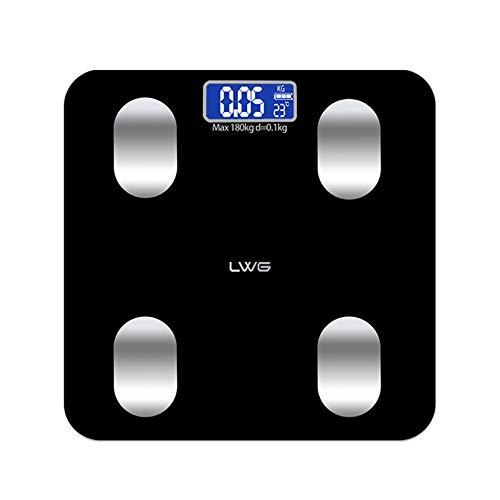 ssytou Bluetooth Body Fat Scale Smart BMI Scale Digital Bathroom Wireless Weight Body Composition Monitor Health Analyzer with Smartphone APP for Body Weight, Fat, Water, BMI, BMR, Muscle Mass