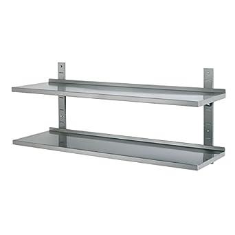 Kit de 2 estanterías en acero inoxidable - anchura 1000 mm ...