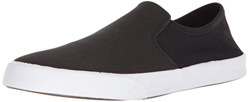 Sperry Top-Sider Men's Striper II Slip-on Sneaker, Black, 10.5 Medium US